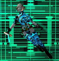 Tron Girl by Chup-at-Cabra