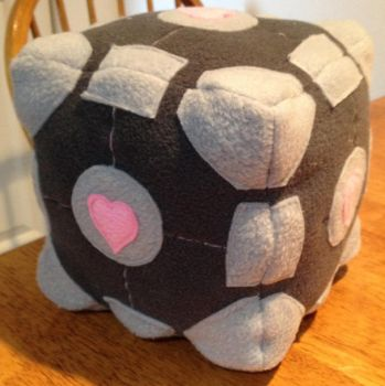 Plush Companion Cube by Kayru-Kitsune
