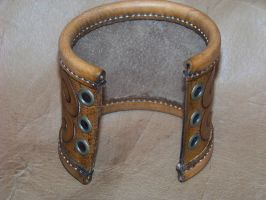 1st celtic  3' bracer b by MerrillsLeather
