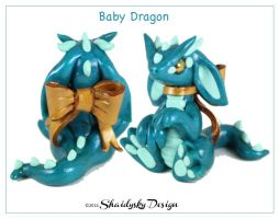 Teal Baby Dragon by ShaidySkyDesign
