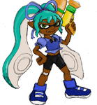 Inkling OC, colored by Orin by Heckfire