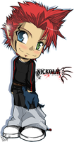 Chibi Nickolai Syrex by InvisibleRainArt