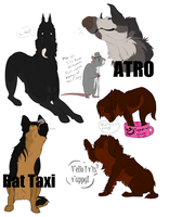 Mafia dog sketches 2 by Stubborn-Dog-Kennels