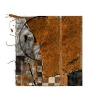 Brown abstract composition by derkert