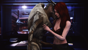 Render Request 9/13 - Garrus + Shepard by hackett-out