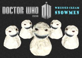 Doctor Who - Whipped Cream Snowmen by mikedaws