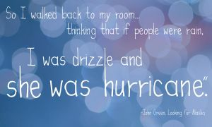 I was Drizzle and She was Hurricane by iamsamm1222