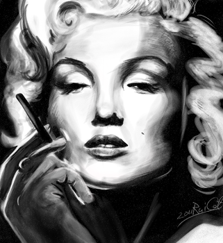 Marilyn SAI doodle by theblindalley