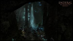 Enderal - Cave Waterfall by The13thCat