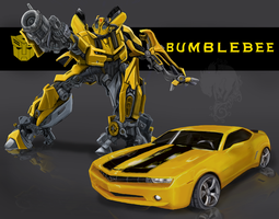 Bumblebee with Camaro by Ash-Dragon-wolf