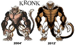 8 Year Evolution of My Art KRONK by kaijuverse