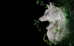 Forest wolf - wallpaper by rockgem