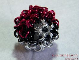 Chainmaille Pokeball by ChainedBeauty