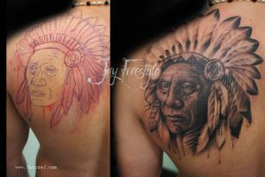 Indian chief tattoo by Tattoo-J