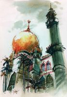 Sultan Mosque, Singapore-SOLD by tilenti