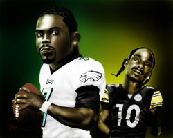 Michael Vick and Snoop Dogg by fourone213