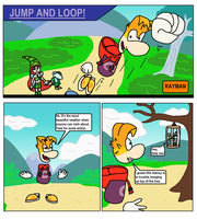 Jump and Loop Rayman Short Comic #01 Page 1 by Mighty355