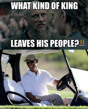 Ragnar Lodbrok Learns About America's King by UncleJeff740