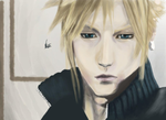 Cloud Strife Painting by Office-Space