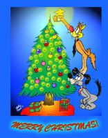 Bill and Buster Christmas Card 2006 by MatthewHunter