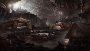 Black Falls - Cave Camp by BlueRogueVyse
