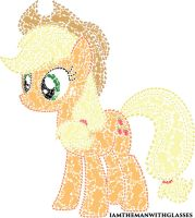 Applejack made out of Applejack by iamthemanwithglasses