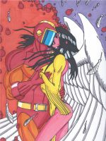 Legion of Superheroes- Wildfire and Dawnstar by RobertMacQuarrie1
