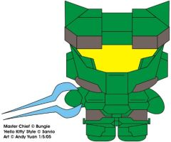 Master Chief Kitty by c-force