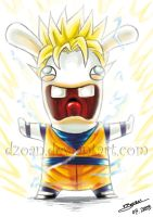 Raving rabbid Super Goku by Dzoan