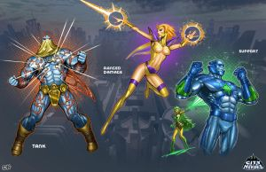 COH Playstyle Illustrations A by DNA-1
