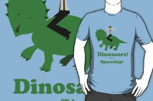 Dinosaurs on a Spaceship by NomiShirts