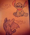 Stitch and Toothless by Katycat14