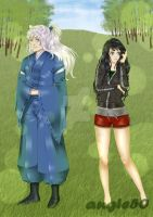 Commission InuYasha and Kagome by angie50