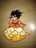 Son Goku on Nimbus perler by Birdseednerd