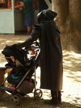 Rogue and a Baby Stroller Stock by Ghost-Rebel-Stock