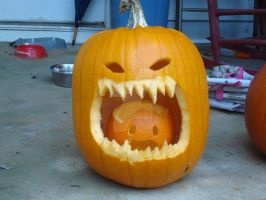 Jack-o-Lantern 2009 unlit by RegitIcefeather