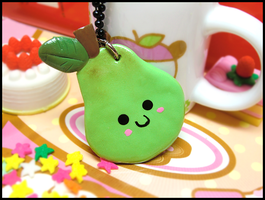 Happy Pear Necklace by GrandmaThunderpants