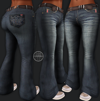 AngelRED Couture - Mesh Tihary Jeans by BloodAppleKiss