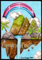 Kawaii Island ACEO ATC Hawaii by candcfantasyart