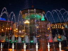 Fountain at the Lenin Square by Deviantart-gleb