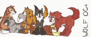 Wolf OCs by EnchantedTopaz