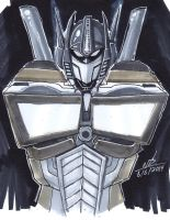 Optimus Prime Copic Sketch-Warmup by ConstantM0tion