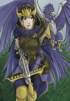 Quinn and Valor, Demacia's Wings (colored) by The-Piojolopez