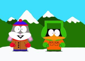 South Park Bugs and Daffy by Martiangirl