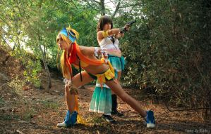 Let's go to fight, Rikku by YunaB-Rabbit