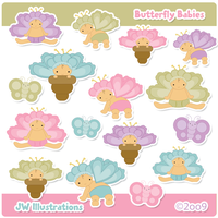 Butterfly Babies Clipart by jdDoodles
