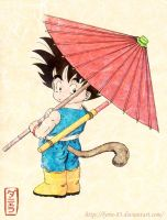 Goku with His Umbrella by Lyrin-83