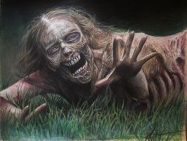 Zombie Crawler Walking Dead by JWheelwrighttattoos