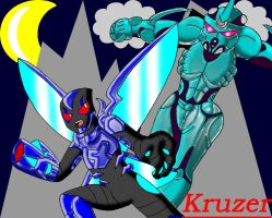 The Guyver vs. the Blue Beetle 3 by Kruzer