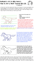 How to Draw Cartoon Wolf Tutorial - For Beginners by KaiKudo